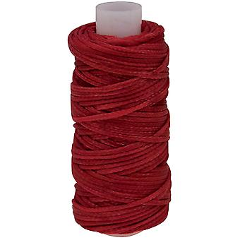 Waxed Braided Cord 25 Yard Spool Red 11210 07
