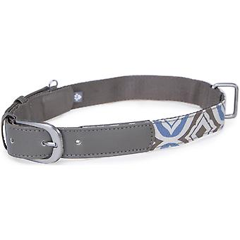 Loved Ones Fashion Dog Collar W/Tag Silencer - Medium-Blue 85009