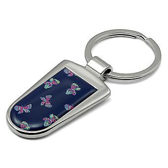 Butterflies Print Key Ring