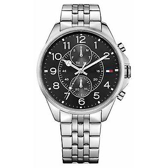 Tommy Hilfiger Mens Dean Stainless Steel Black Dial 1791276 Watch