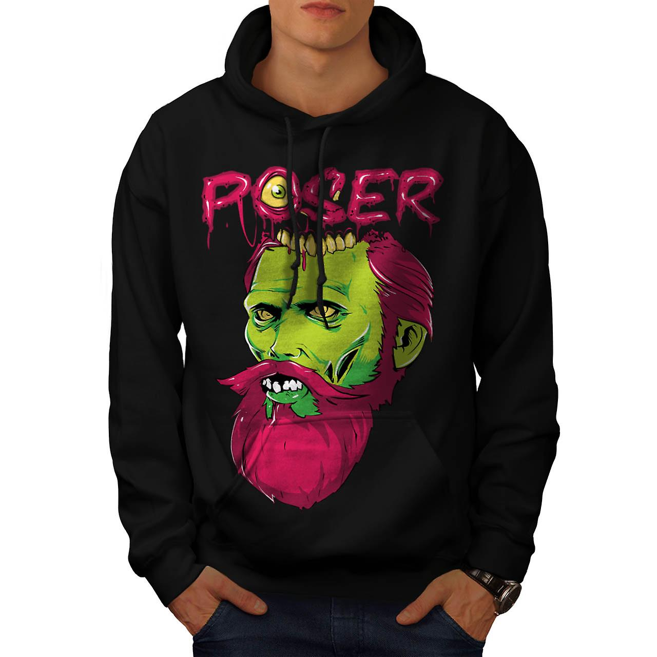 Poser Monster Rock Zombie Men Black Hoodie | Wellcoda