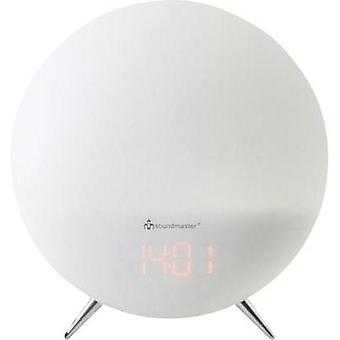 FM Radio alarm clock SoundMaster UR220WE AUX, FM Mood lighting White