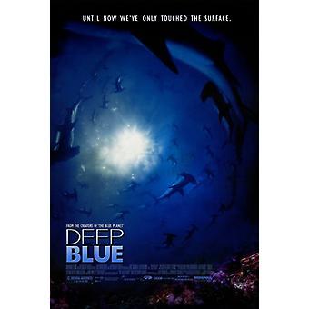 Djupblå film affisch Skriv (27 x 40)