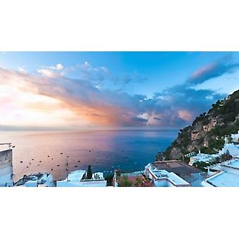 Buildings at the waterfront Positano Amalfi Coast Province of Salerno Campania Italy Poster Print by Panoramic Images (36 x 21)