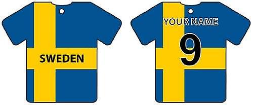Personalised Sweden Flag Jersey Car Air Freshener