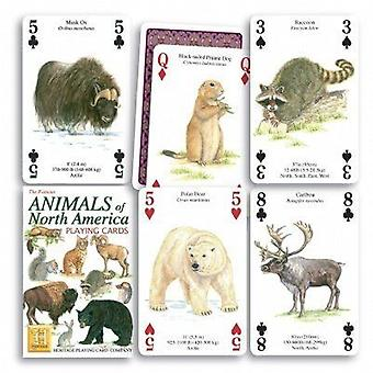 Animals of North America set of 52 playing cards (+ jokers)    (hpc)