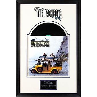 The Beach Boys - Surfin' Safari - Vintage Vinyl Album Custom Framed Collage
