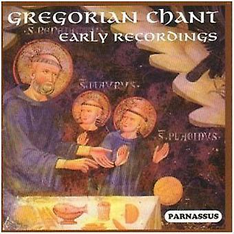 Den gregorianske sang tidlige indspilninger - gregorianske sang - tidlige indspilninger [CD] USA importerer
