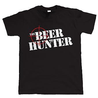 Le chasseur de la bière, drôle Mens T-Shirt à boire