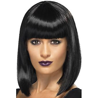 R 'n' B star approximate off wig black short Bob with bangs