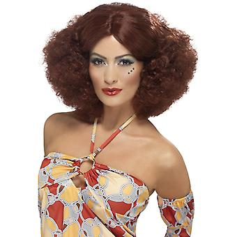 70s Afro wig for ladies Brown 70s Motown