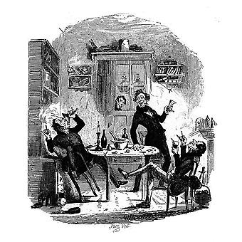 Charles Dickens - Drinking Party at Bob Sawyers Poster Print Giclee