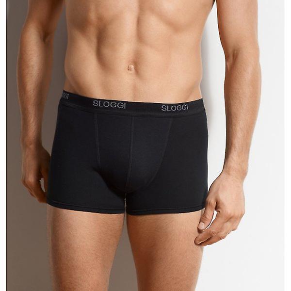 Sloggi 2-Pack Basic Short Boxer Trunks, Black