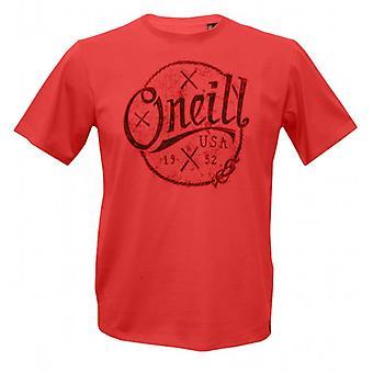 O'Neill Single Jersey Combed Cotton Nautic T-Shirt, Salmon Red