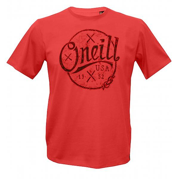 O'Neill Single Jersey Combed Cotton Nautic T-Shirt, Salmon Red