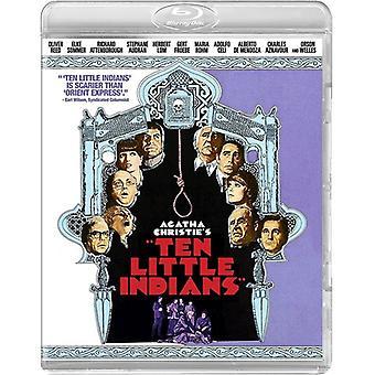 Ti små indianere (1974) [Blu-ray] USA importerer
