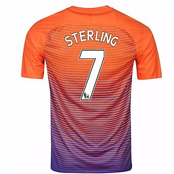 2016-17 Manchester City derde Shirt (Sterling 7) - Kids