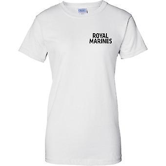 Lizenzierte MOD - Royal Marines - Text - Damen Brust Design T-Shirt