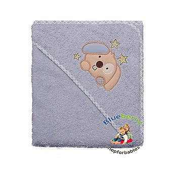BlueberryShop Embroidered WARM HOODED Bath Pool Beach TOWEL Baby Kid Todler 80 x 80 cm (31.5