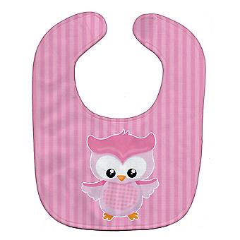 Carolines Treasures  BB9047BIB Girl Bird on Pink Baby Bib