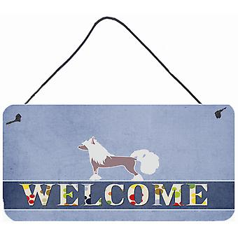 Chinese Crested Welcome Wall or Door Hanging Prints