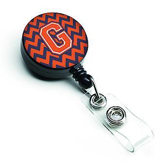 بكرة شارة قابل الحرف G شركة شيفرون البرتقالي والأزرق