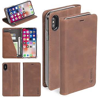 Krusell Sunne Leather Folio case for Apple iPhone X 5.8 leather case protector case Brown
