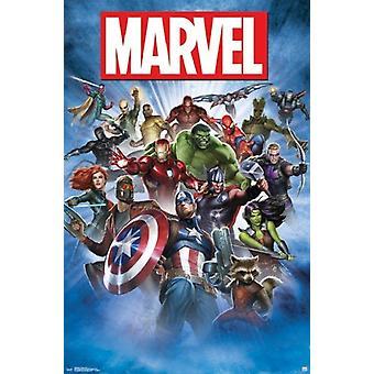 Marvel Comics Super Hero Breakout Poster Poster Print