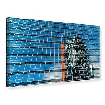 Canvas Print Skyscraper Mirror