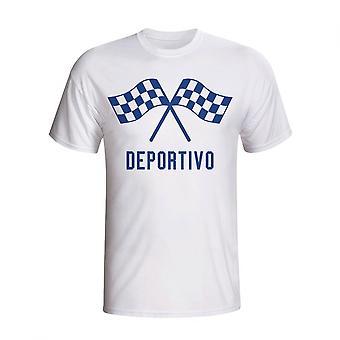 Deportivo Waving Flags T-shirt (wit)