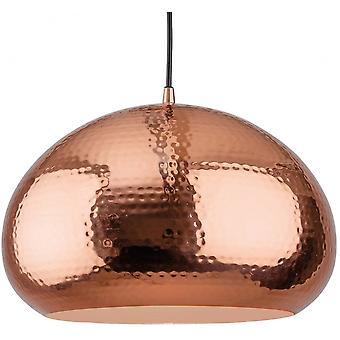 Firstlight Modern Dinted Copper Open Pod Pendant Ceiling Light
