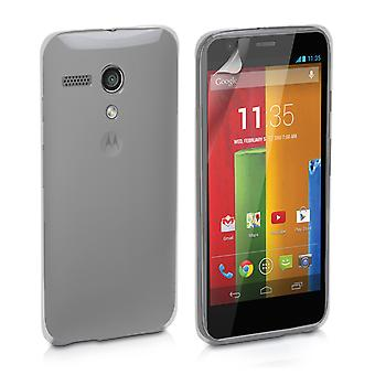 Yousave Zubehör Motorola Moto G Gel Silikonhülle - Clear
