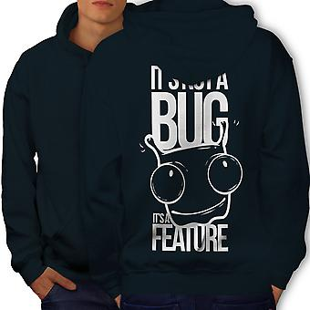 Not A Bug Geek Men NavyHoodie Back | Wellcoda