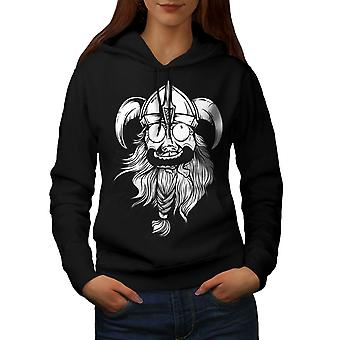 Crazy North Joke Women BlackHoodie | Wellcoda