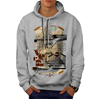 Art mosaique homme Fashion Men GreyHoodie | Wellcoda