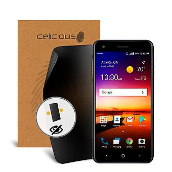 Celicious Privacy ZTE Blade X 2-Way Visual Black Out Screen Protector