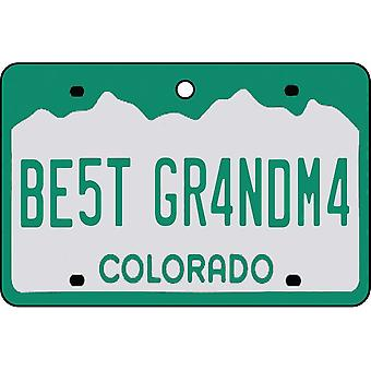 Colorado - Best Grandma License Plate Car Air Freshener