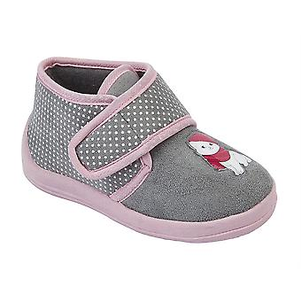 Infant Baby Girls Touch Fastening Cat Bootee Ankle Slippers Shoes