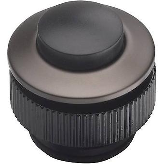 Bell button 1x Grothe 62013 Anthracite, Black