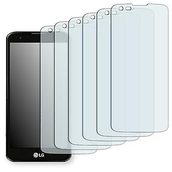 LG K7 (camera left) screen protector - Golebo Semimatt protector (deliberately smaller than the display, as this is arched)