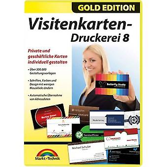 Markt & Technik Visitenkarten Druckerei 8 Gold Edition Full version, 1 license Windows Office management