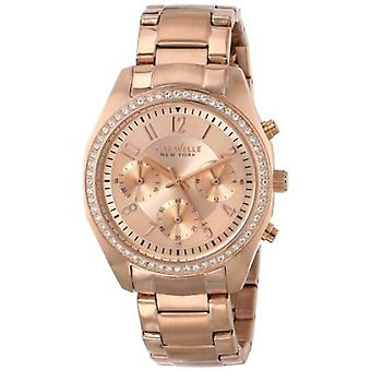 Caravelle New York Women's 44L117 Analog Display Japanese Quartz Rose Gold Watch