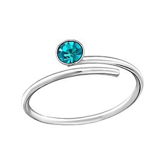 Round - Crystal + 925 Sterling Silver Toe Rings - W33422x