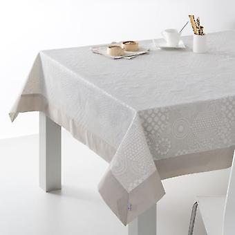 ES-TELA Jacquard Tablecloth with Llanes Napkins Linen with Apply