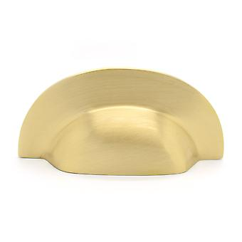 Modern Brass Gold Drawer Cup Handle