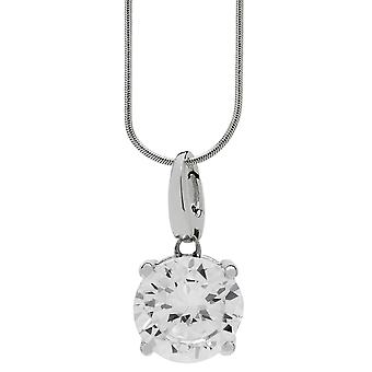 Burgmeister  women's necklace and pendant 925 sterling silver rhodanized, snake necklace 45cm , 1 zirconia JBM1027-321