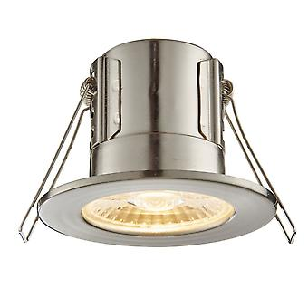 Saxby Lighting Shield Eco 500 IP65 4W 3000K Dimmable LED Downlight In Satin Nickel