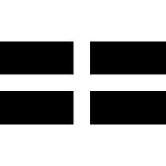 Cornwall flagg 5 ft x 3 ft med hull For hengende