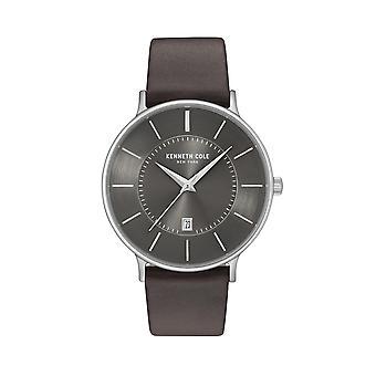 Montre montre-bracelet en cuir Kenneth Cole New York masculine KC15097005