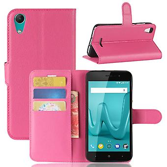 Pocket wallet premium pink WIKO Lenny 4 protection sleeve case cover pouch new